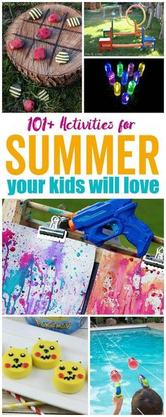 101 Summer Activities for Kids   Kids Crafts and Kids Recipes! #passion4savings #summer #activities #party #fun #pool #games