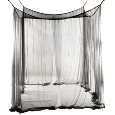 4-Corner Bed Netting Canopy Mosquito Net For Queen/King Sized Bed 190*210*240Cm (Black)