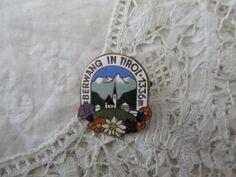 Enamel alpine brooch 1930's by Nkempantiques on Etsy