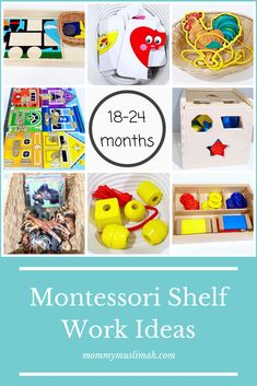 Montessori Shelf work for month olds – Mommy Muslimah - Modern Activities For 1 Year Olds, Toddler Learning Activities, Montessori Activities, Infant Activities, Activities For Kids, Learning Games, Kids Learning, Learning Spanish, Montessori Baby