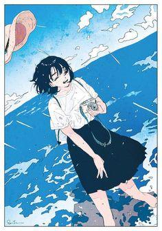 Arts And Crafts Beer Parlor Anime Art Girl, Manga Art, Pretty Art, Cute Art, Aesthetic Art, Aesthetic Anime, Art Sketches, Art Drawings, Character Art