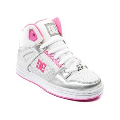 Shop for YouthTween DC Rebound Skate Shoe in White Sliver Pink at Journeys Kidz. Shop today for the hottest brands in mens shoes and womens shoes at JourneysKidz.com.Mid-top skate shoe from DC, the Rebound Hi features a patent upper with a perforated toe panel, padded collar, elastic tongue-centering straps, and a DGT rubber sole. Available exclusively at JourneysKidz!
