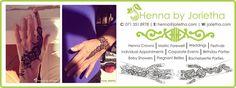 Henna By Jorietha Services Henna designs on hands, feet, wrist, arm, neck, back etc  Facebook: www.facebook.com/hennabyjorietha Twitter: @hennabyjorietha Website: http://www.jorietha.com E-mail: henna@jorietha.com