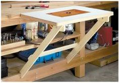 Or just a flip up table at mitre station. But what about fence, feather board rails, etc. for shaping?