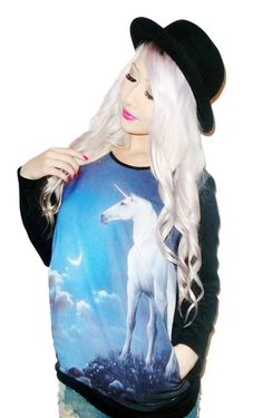Moonlit Unicorn Pullover | 20 Sweatshirts You Need In Your Life Immediately. I love this sweater!