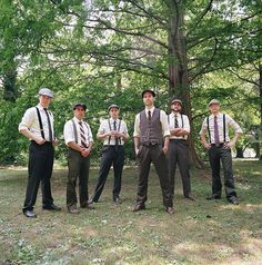 I never thought I had a preference on groomsmen fashion until I saw this picture. This HAS to happen <3