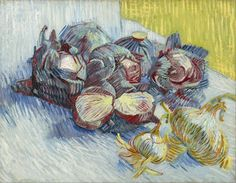 Vincent Van Gogh「Red Cabbages And Onions」