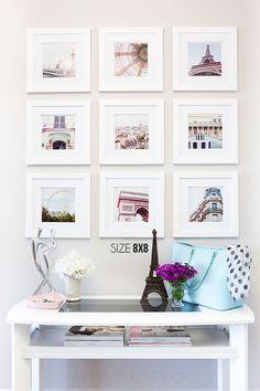 I love this Travel Wall Gallery idea. Photowall Ideas, Home Interior, Interior Design, Instagram Wall, Instagram Display, Instagram Feed, Diy Casa, Home And Deco, Home Decor Inspiration