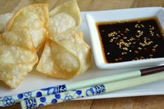Crispy Goat Cheese Wontons with Chili Dipping Sauce - The View from Great Island