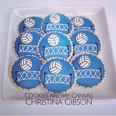 Volleyball Cookies by Cookies are my Canvas