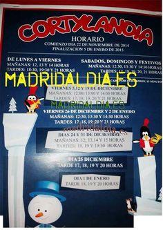 Horarios cortylandia 2014 Madrid en http://madridaldia.es