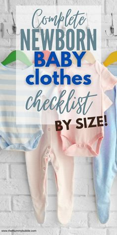 A complete checklist for newborn baby clothes. How many baby clothes you need and in what sizes. An easy shopping list for baby's wardrobe! Newborn Baby Tips, Baby Outfits Newborn, Pretty Outfits, Cute Outfits, Tricky Questions, How Many, New Mums, Tops For Leggings, Baby Hacks