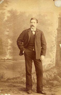 Desconocido: foto de Don Fausto Blanco Sanchez (1845-1920). cabinet 1885.  Hesperus´ Collection