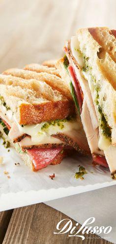 Take your panini to the next level in flavor with DI LUSSO® Italian Turkey. Quick Sandwich, Turkey Panini, Italian Cookbook, Trini Food, Grilled Roast, Snack Recipes, Cooking Recipes, Dapple Dachshund, Good Food