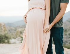 Pink Mountain Top Maternity Photos - Inspired By This