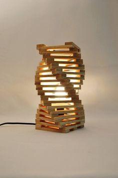 Lámpara de mesa de diseño en madera de roble lámpara de #DeskLamp
