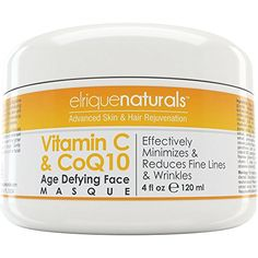Vitamin C Face Mask  With CoQ10  Best Anti Aging Moisturizer For Tired And Damaged Skin Minimizes And Reduces Fine Lines And Wrinkles Gentle Exfoliant With Natural Enzymes Adds Essential AntiOxidants And Minerals For A Youthful Smooth and Radiant Skin *** See this great product. (Note:Amazon affiliate link)