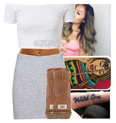 """""""this outfit oml"""" by lamamig ❤ liked on Polyvore featuring Boohoo and UGG Australia"""
