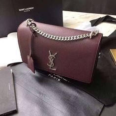 Red Medium Sunset Monogramme Chain Bag Saint Laurent Best Selling c8dlnFerjg