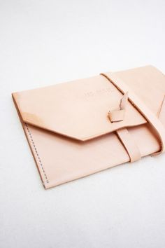~ leather envelope clutch ~
