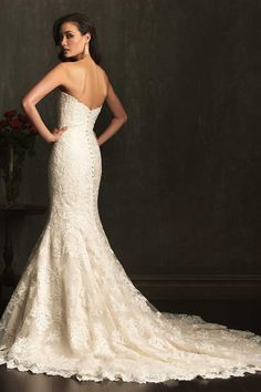 2014 Sweetheart Mermaid/Trumpet Wedding Dress Lace Bodice With Applique Tulle And Lace
