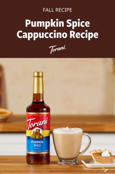 This Pumpkin spice cappuccino is great for fall. This pumpkin cappuccino recipe uses Torani syrups and is easy to make at home. Grab our full pumpkin cappuccino recipe here! Pumpkin Drinks, Pumpkin Smoothie, Pumpkin Dessert, Pumpkin Recipes, Pumpkin Spice Cappuccino Recipe, Pumpkin Spice Syrup, Fall Dessert Recipes, Fall Recipes, Desserts