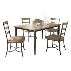 Hillsdale Furniture Charleston Ladder-Back 5-pc. Dining Set, Brown
