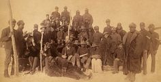 Buffalo soldiers of the 25th Infantry, Fort Keogh, Montana, 1890