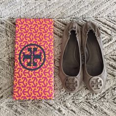 Tory Burch REVA Flats Tory Burch Reva Flats, in great condition as shown, scuff on medallion in last pic, comes with original box Tory Burch Shoes Flats & Loafers