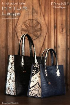 It's all about taste !  NYIUR Large Sophisticated Tote Bag Proud as PRibuMI...