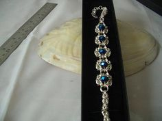 Byzantine Chainmaille Bracelet with 5 sections of Romanov