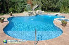 vinyl inground pool | Steel Wall Vinyl Inground Pools