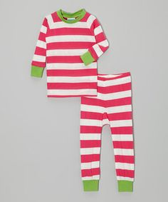 When dreamland is calling, dress sleepy sweeties in this adorable pajama set. The all-cotton construction means they're ultra-comfy, while the ribbed wrist and ankle cuffs help them stay in place during even the wriggliest of naps! Size note: For your children's safety, this item is designed to fit snugly as it is not flame-resistant.