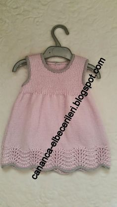 Crochet patterns for girls cardigans doll clothes 19 ideas Baby Dress Patterns, Baby Knitting Patterns, Knitting Designs, Crochet Patterns, Knit Baby Dress, Baby Cardigan, Diy Crochet Sweater, Knitting For Kids, Diy Dress