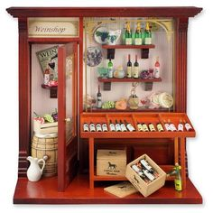 Complete Wine Shop Shadow Box Display