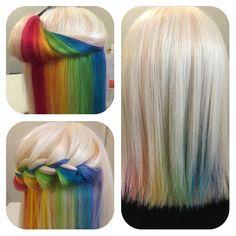 hiddenrainbowhair: Wenn sich unter den Haaren ein Regenbogen versteckt