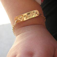 Name Bracelet Sterling Silver Newborn Bracelets Baby Shower
