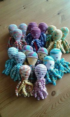 Deze inktvisjes zijn gemaakt voor couveuse kindjes.