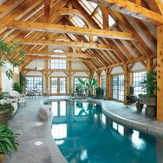Very impressive indoor pool.... I imagine this space decorated with potted orange, lemon and grapefruit trees... the fragrance during the blooming season would be beyond intoxicating... #swimmingpool