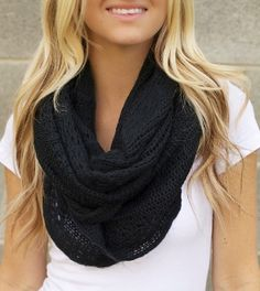 Black Infinity Scarf a staple in everyone's closet this fall!