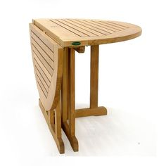 The Barbuda 4 ft. folding gate-leg table boasts a micro-smooth table top thickness of 1 1/8 inches and seats up to 6. It is our most popular teak folding table for yachts and other large ocean-faring vessels, or for small apartments and patios where space is limited and can be stored conveniently. Fold one side down and set it against the wall to turn it into a drink station. Outside, it can accept our teak umbrellas.