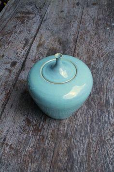 Urn turquoise LiLo's Ceramics 30 cm stoneware