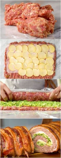 Rocambole de Carne com Brócolis e Provolone, o melhor da sua vida #rocambole #carne #provolone #receita #gastronomia #culinaria #comida #delicia #receitafacil