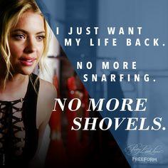 "S7 Ep11 ""Playtime"" - Bye shovels. #PrettyLittleLiars"