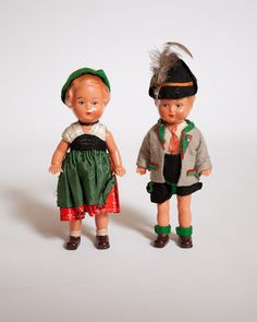 Adorable 1940s Eli Celluloid Dolls West by lastprizevintage