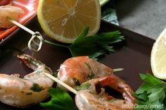Grilled Lemon Garlic Shrimp: Food on a Stick