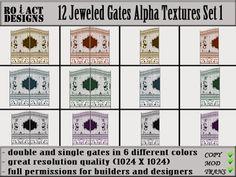 Ro!Act Designs 12 Jeweled Gates Alpha Textures Set 1