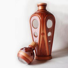 Create My World Designs, Art Deco polymer clay covered bottle