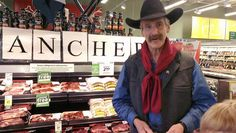 Met some ranchers from Prince George at Save On Foods.gotta love that he looks like Sam Elliot. That's a rancher you can trust! Save On Foods, Trust, Prince