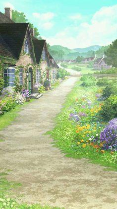 Episode Backgrounds, Anime Backgrounds Wallpapers, Anime Scenery Wallpaper, Fantasy Art Landscapes, Fantasy Landscape, Landscape Art, Yuumei Art, Desenhos Love, Casa Anime